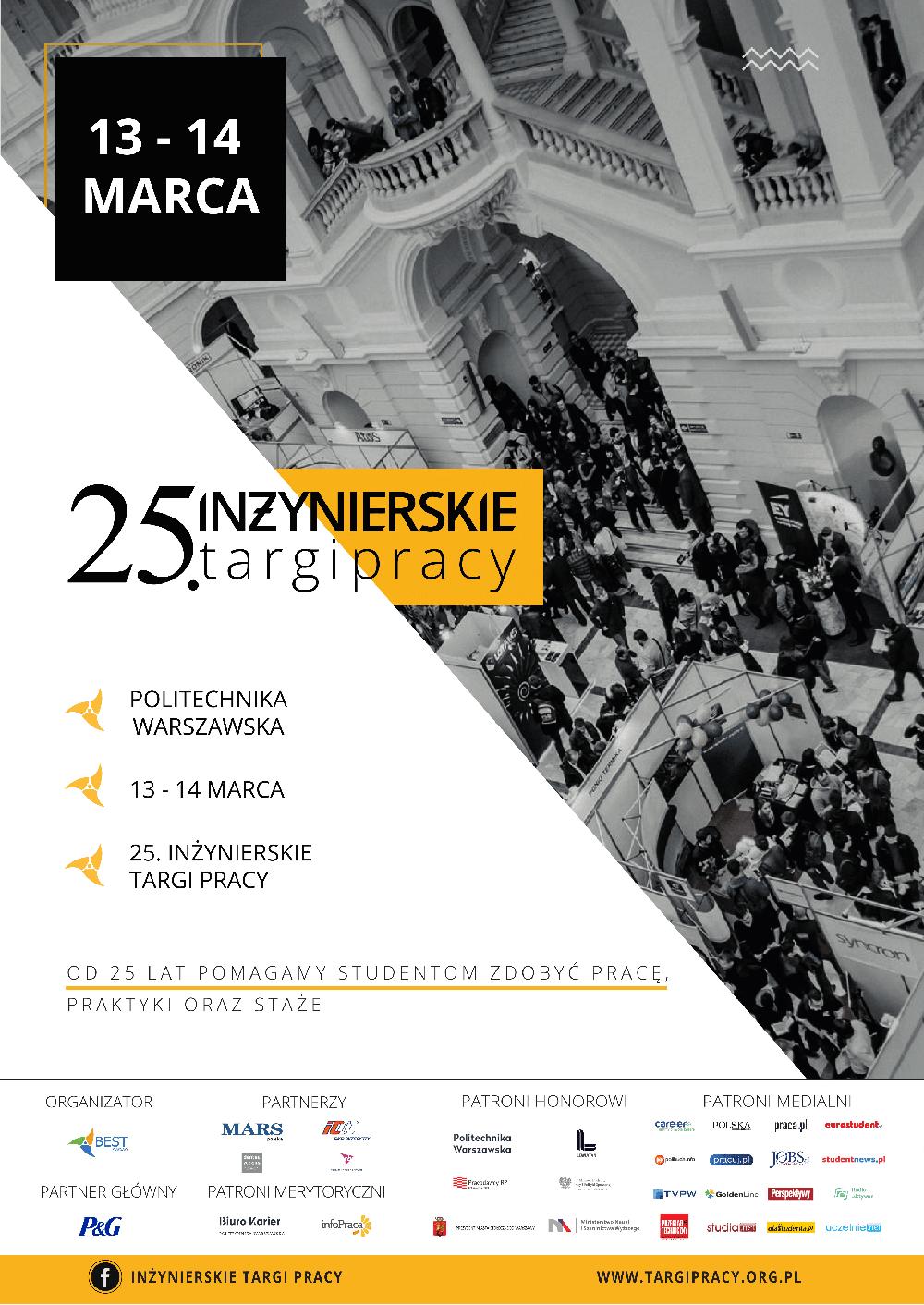 Targi organizowane są na Politechnice Warszawskiej.