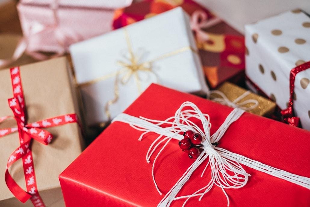 Sterta pudełek na prezenty