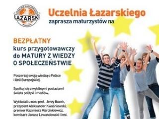 Akademia Europejska dla maturzystów - matura wos wiedza o społeczeństwie kurs testy przygotowanie uczelnia łazarskiego akademia europejska