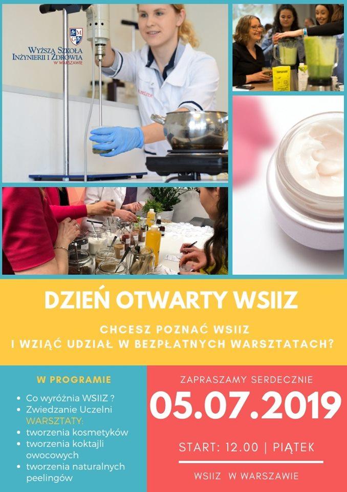 Plakat dni otwartych WSIiZ 2019