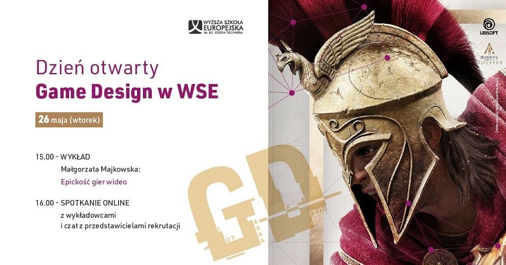 Dzień otwarty online w Wyższej Szkole Euorpejskiej w Krakowie - maj 2020, game design