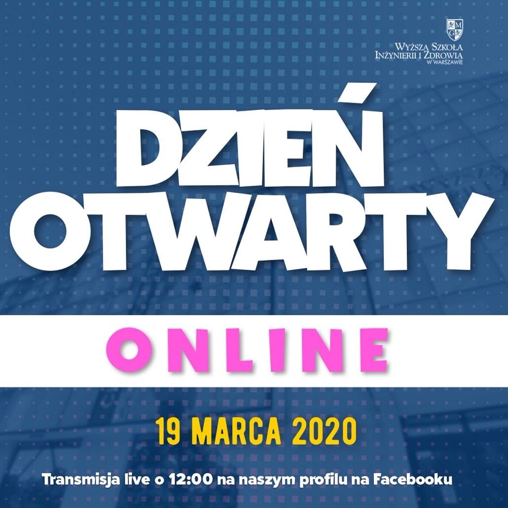 Dzień otwarty online WSIiZ Warszawa 2020 marzec baner reklama