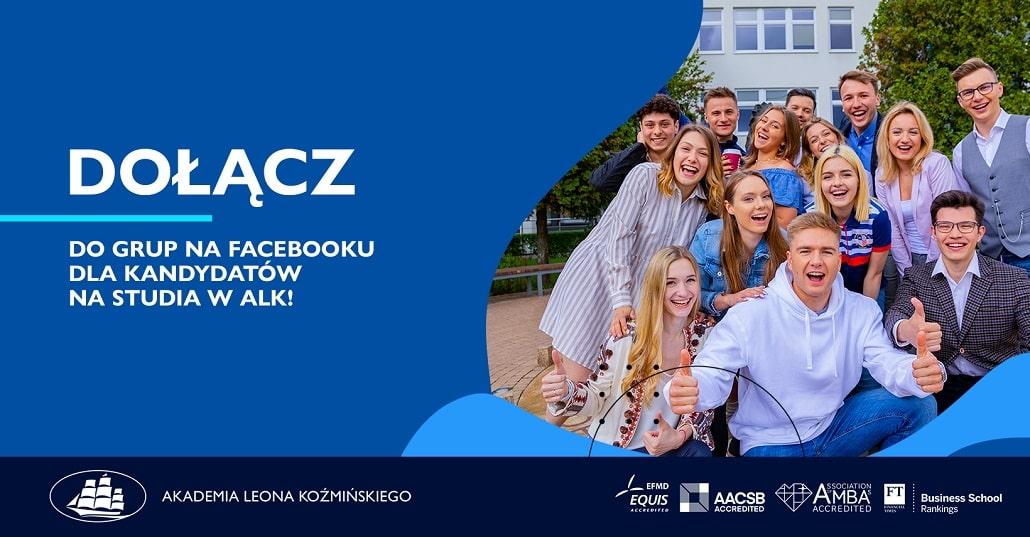 Baner informujący o grupac rekrutacyjnych ALK 2020