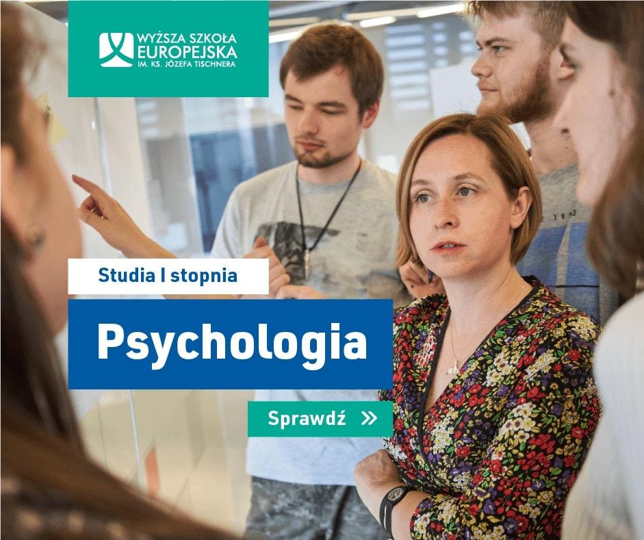 Psychologia w Krakowie - studia WSE - baner