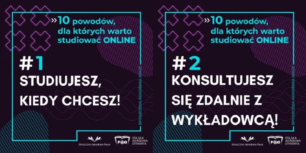 Grafika Społecznej Akademii Nauk w Łodzi o Polskiej Akademi Otwartej