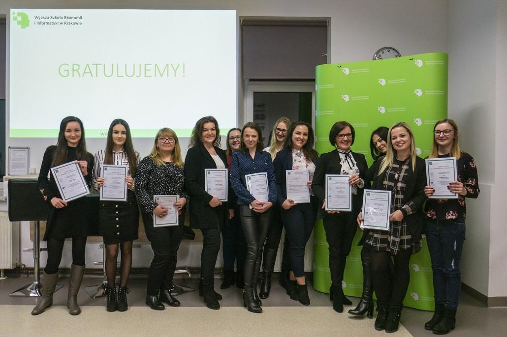 Ceremonia rozdania dyplomów w Wyższej Szkole Ekonomii i Informatyki w Krakowie