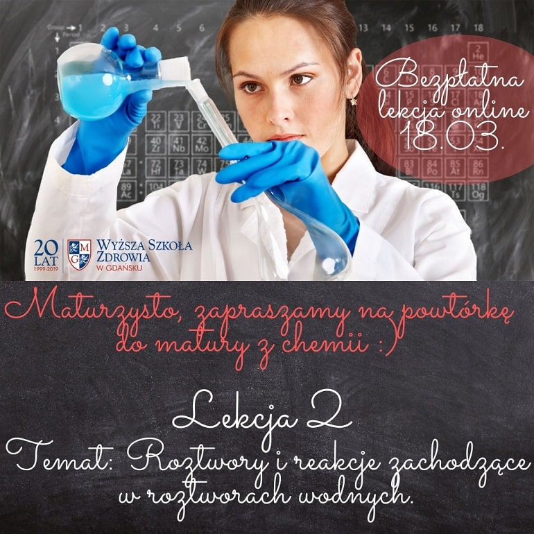 Wyższa Szkoła Zdrowia w Gdańsku - powtórka do matury z angielskiego - marzec 2021 - plakat baner