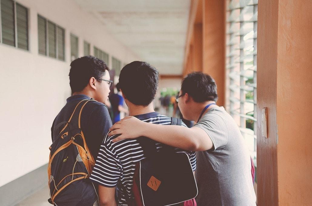Uczniowie w liceum