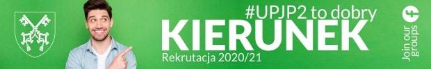 Baner UPJP2 informujący o rekrutacji 2020/2021