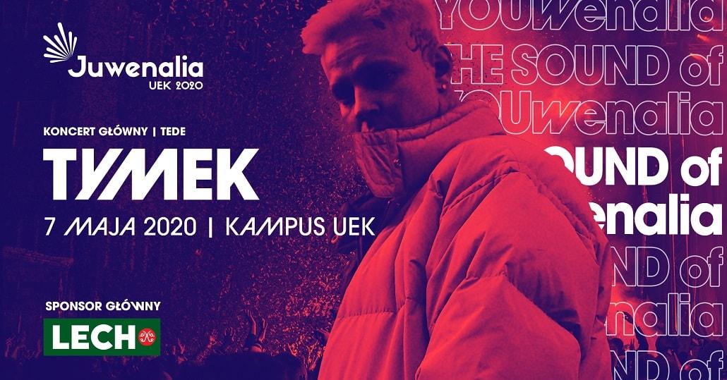 Baner informujący o występie Tymka na Juwenaliach UEK 2020
