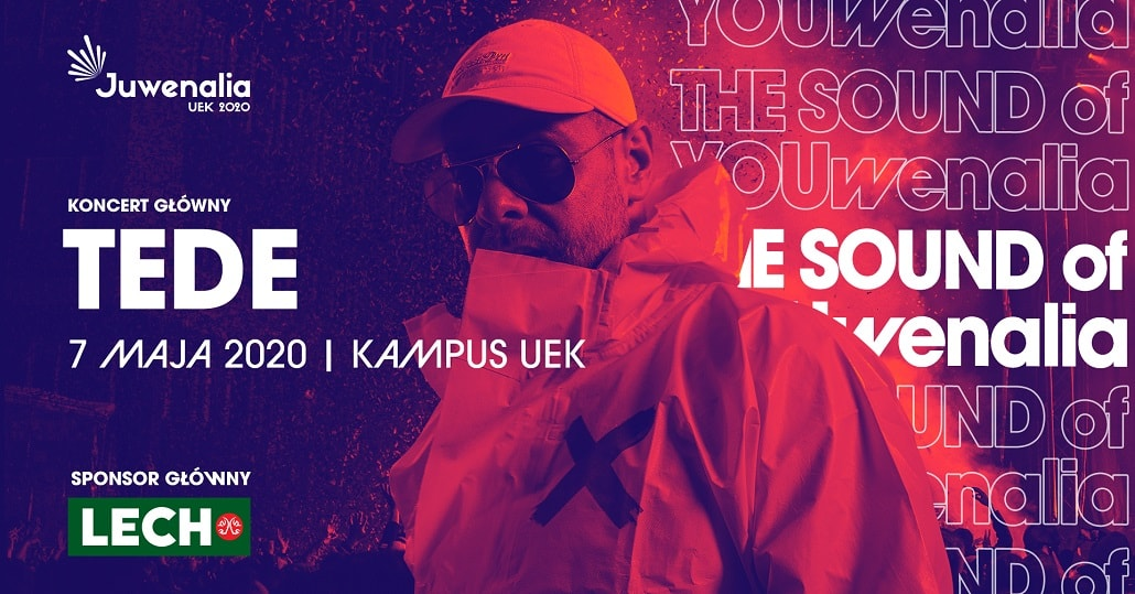 Baner informujący o występie TEDE na Juwenaliach UEK 2020