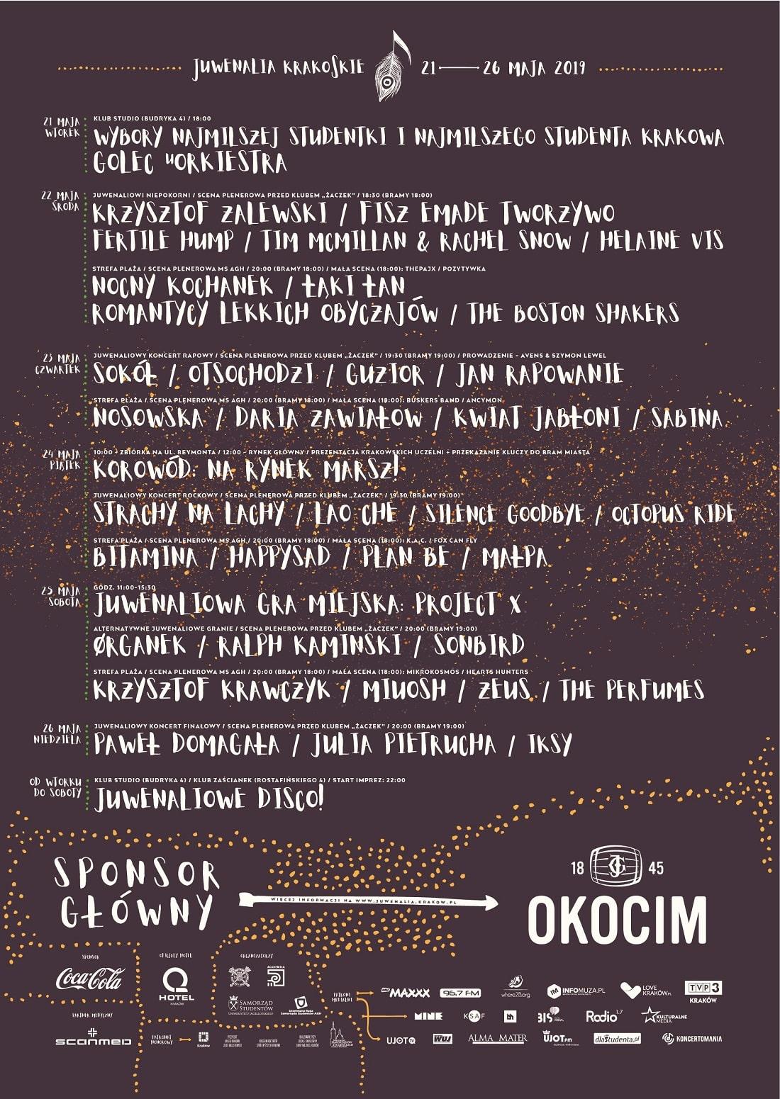 Juwenalia krakowskie 2019 plakat
