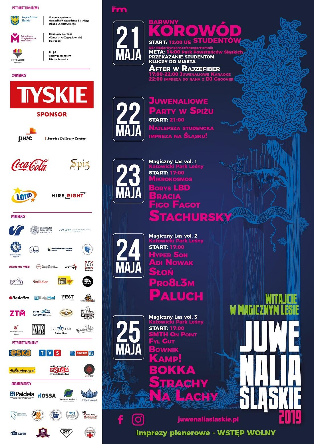 Juwenalia Śląskie 2019 plakat