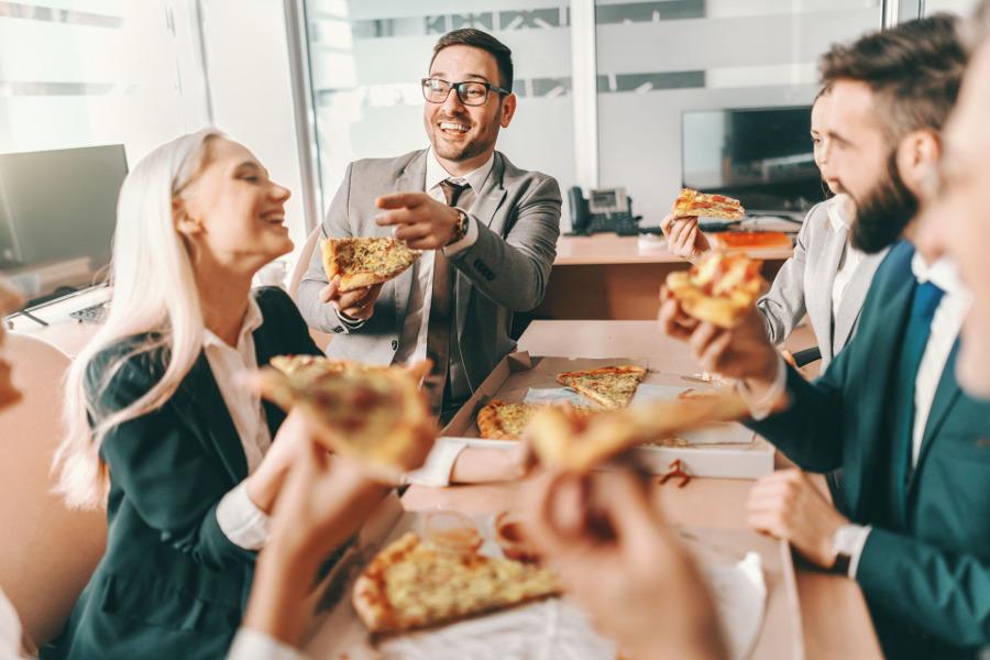 pizza w pracy