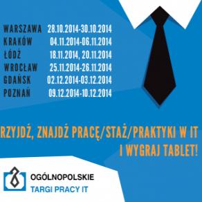 Targi Pracy IT w sześciu polskich miastach - ogólnopolskie targi pracy it wrocław warszawa kraków łódź poznań gdańsk