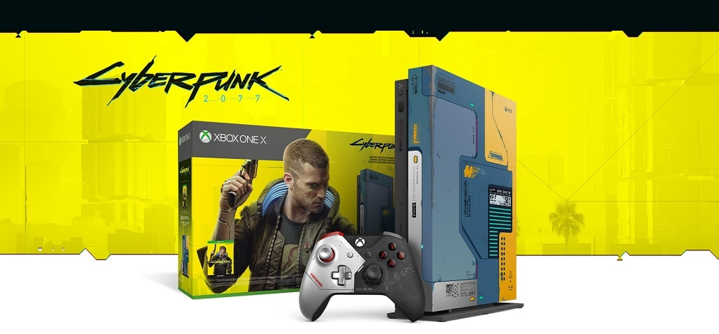 Xbox One X: Cyberpunk 2077 Edition mockup
