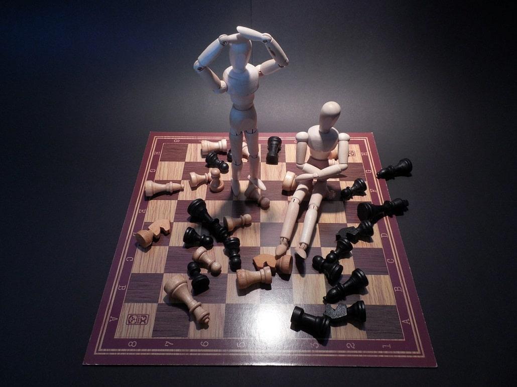 Symboliczna reprezentacja konfliktu i porażki