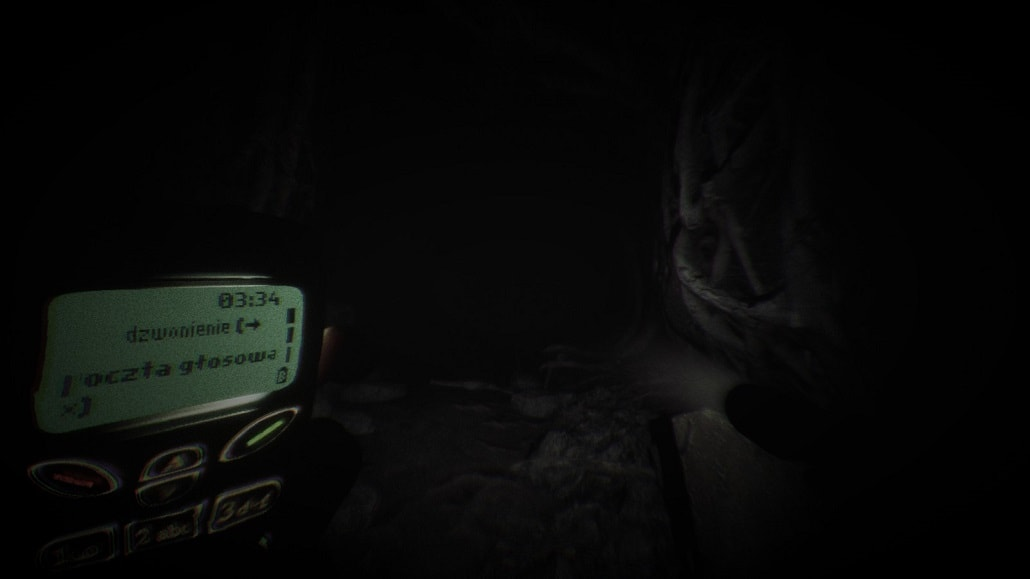 Screen z gry Blair Witch. Telefon i Latarka, ciemny most