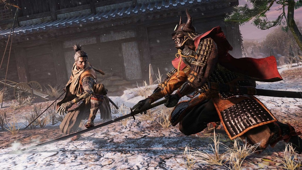 Screen z gry Sekiro Shadows Die Twice walka