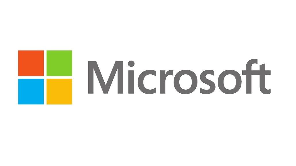 Logo Microsoftu białe tło