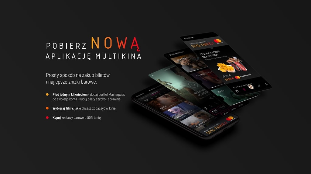 aplikacja mobilna Multikino VUE