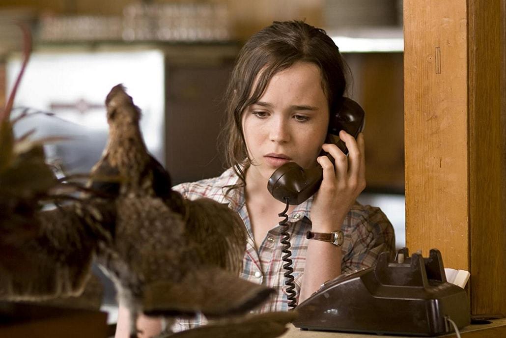 Kadr z filmu Peacock 2010 z Elliotem Page'm jeszcze jako Ellen Page