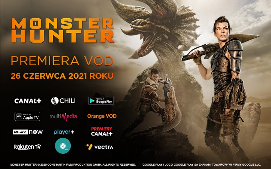 Monster Hunter na VOD