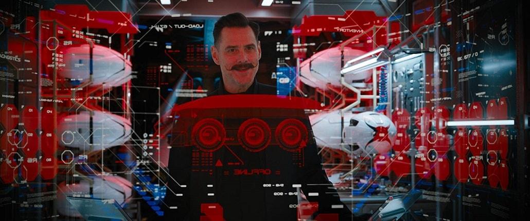 Jim Carrey jako Doktor Eggman w Filmie o Sonicu