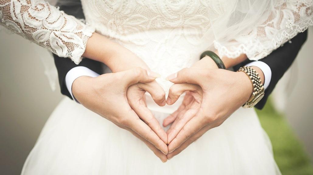 Ślub pary zakochanych