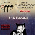Festiwal Bardów OPPA 2011 już 18 listopada - koncerty Warszawa, OPPA 2011, program