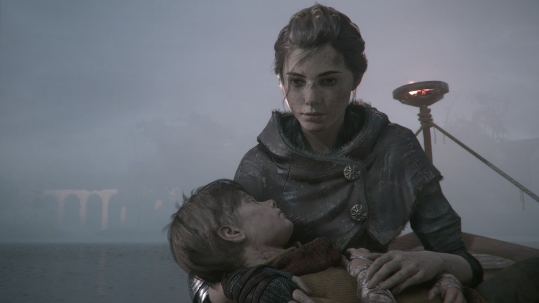 Amicia i Hugo de Rune z gry a Plague Tale Innocence