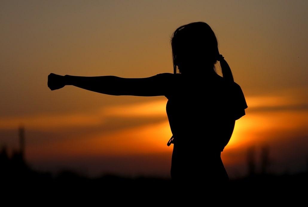 Kobieta karate