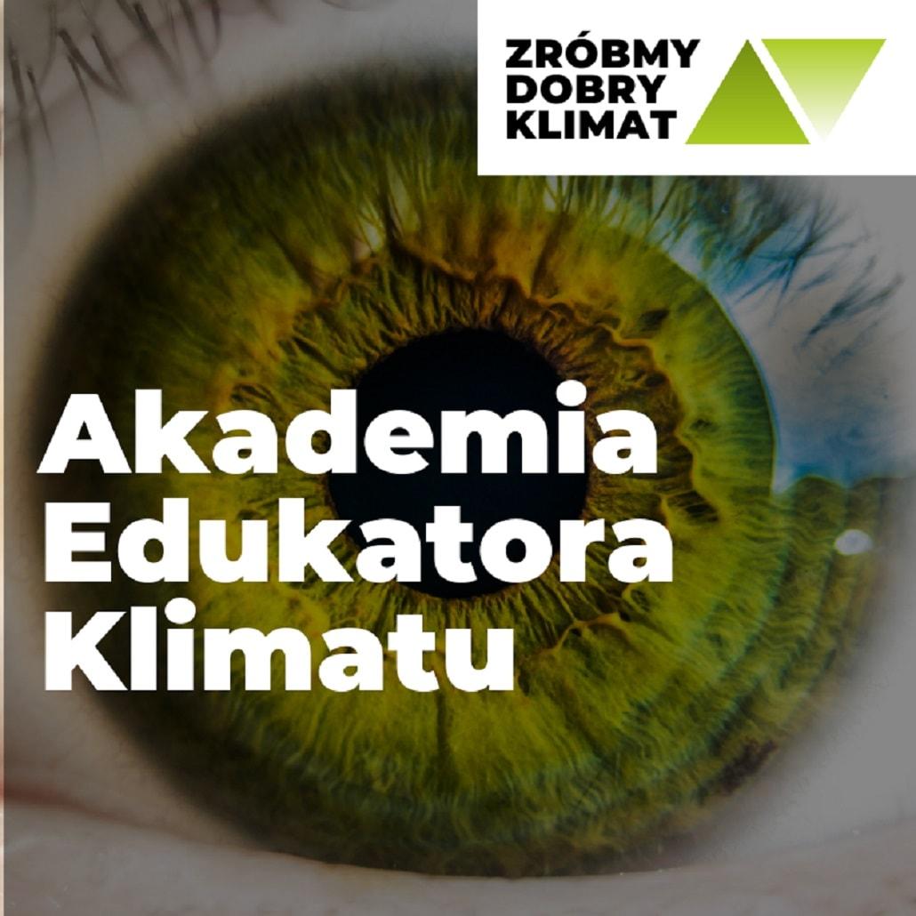 Akademia Edukatora Klimatu w EXPERYMENT - plakat