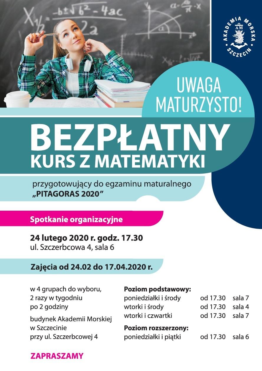 Konkurs Akademii Morskiej w Szczecinie 2020 Pitagoras plakat