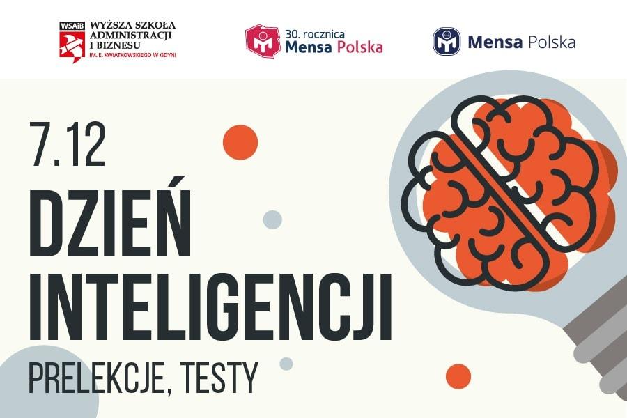 Grafika informująca o dniu intelgiencji w WSAIB w Gdyni