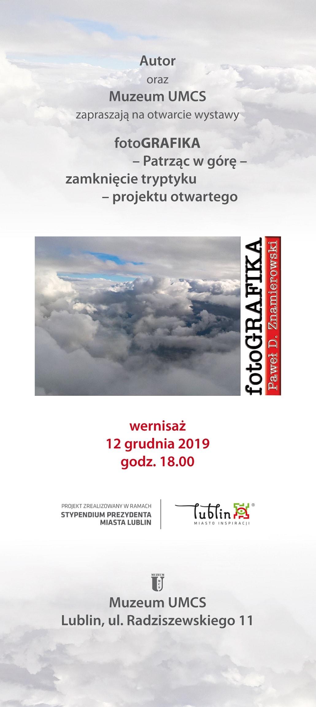Wernisaż FotoGRAFIKA 2019 UMCS plakat