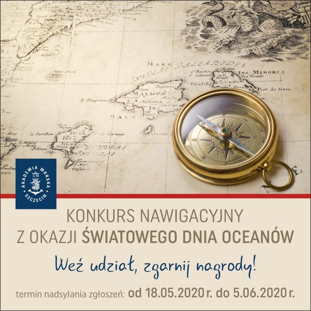 Akademia Morska w Szczecinie - konkurs nautologiczny 2020 plakat