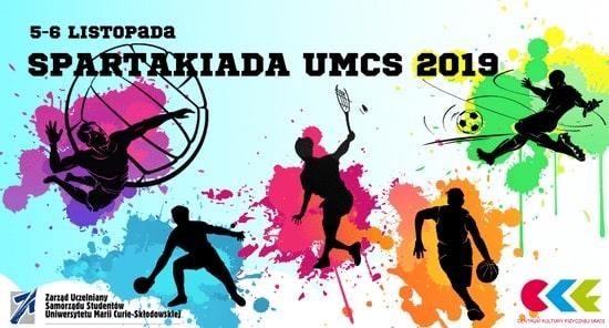 Spartakiada na UMCS 2019 - plakat promujący