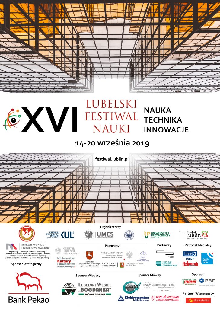 XVI Lubelski Festiwal Nauki Plakat