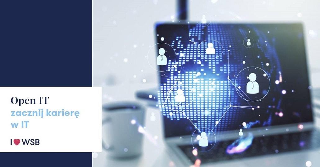 Wykłady online WSB w Warszawie OPEN IT - plakat