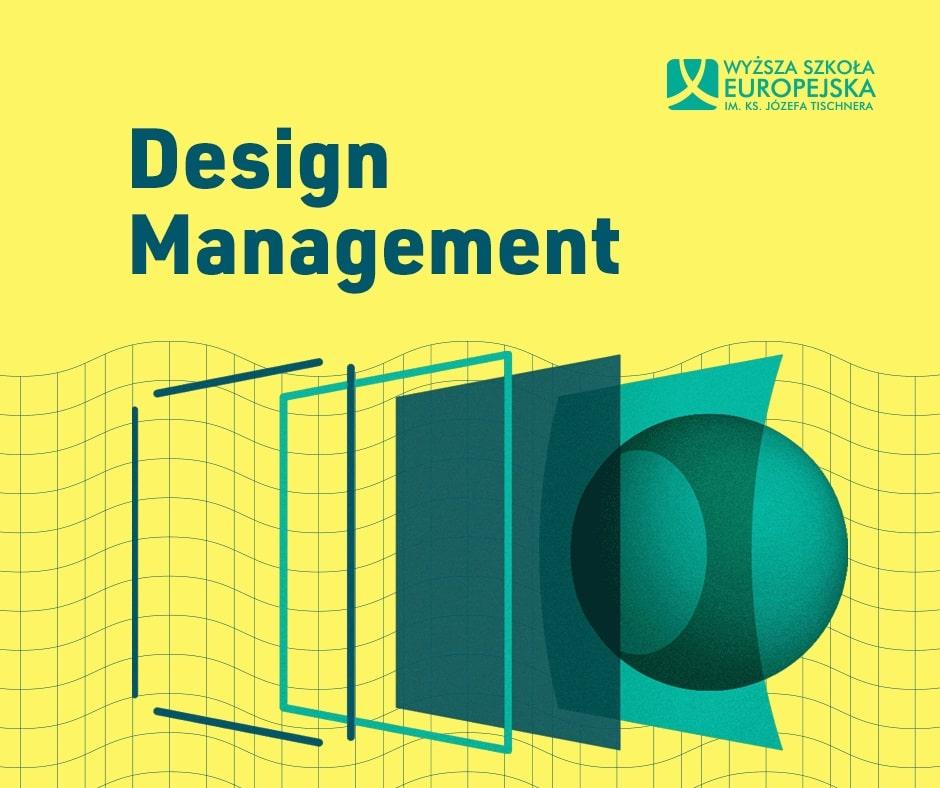 Baner informujący o ścieżce Design Management w krakowskiej WSE
