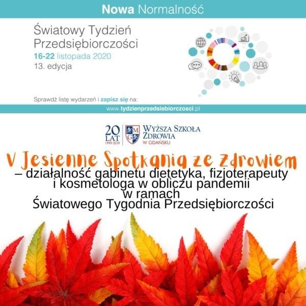 Jesienne spotkania 2020 w WSZ w Gdańsku - plakat