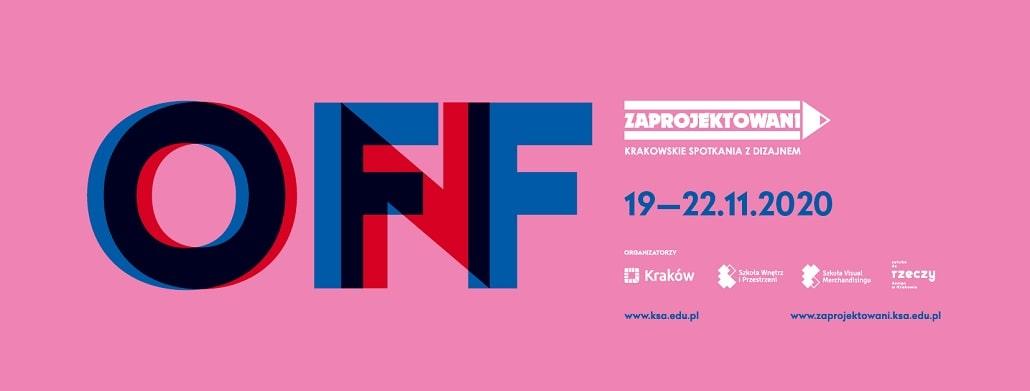 Zaprojektowani 2020 - Krakowskie Spotkania z Dizajnem baner