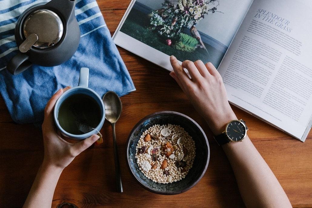 Zdrowe jedzenie, śrniadanie, poranek, forma