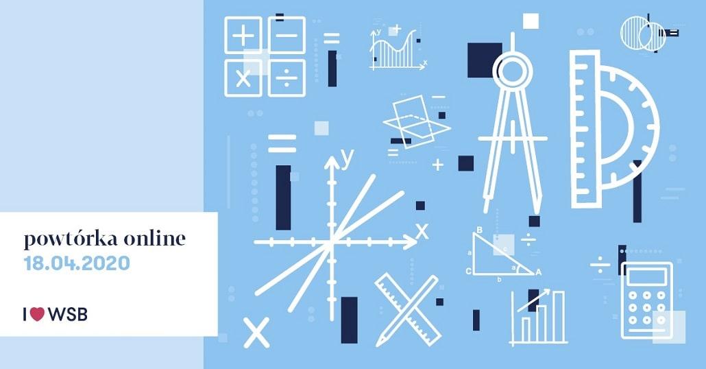 Baner informujący Powtórce maturalnej z matematyki 2020 w kwietniu