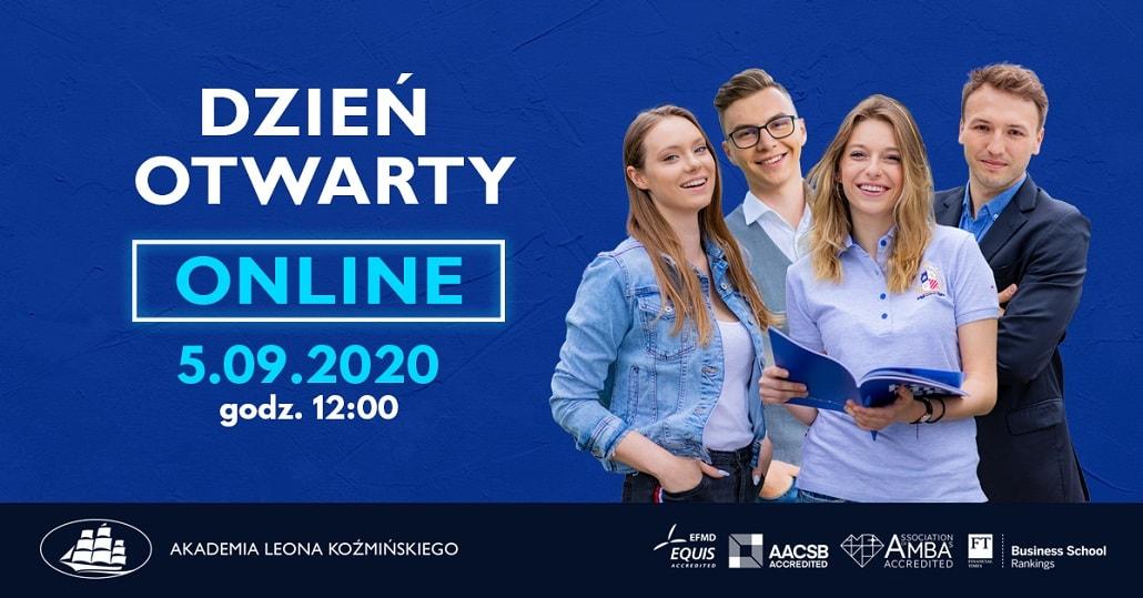 Baner informujący o wrześniowym dniu otwartym w Akademii Leona Koźmińskiego
