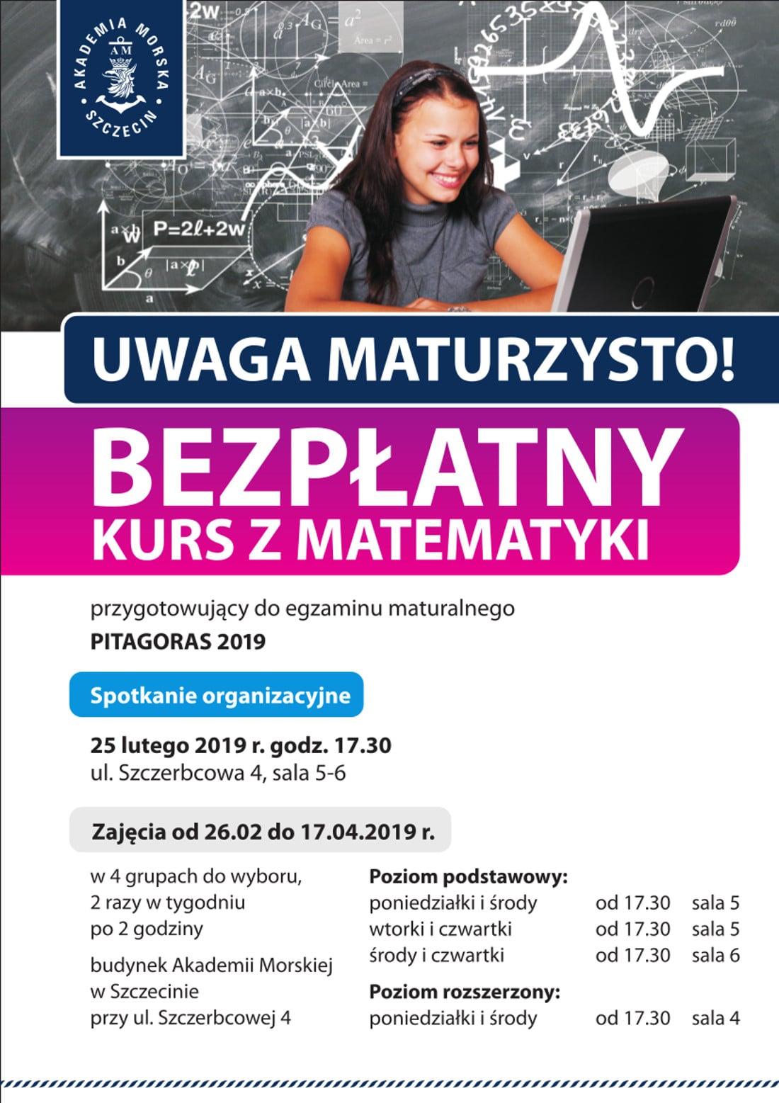 Kurs rozpoczyna się 25 lutego 2019 roku.
