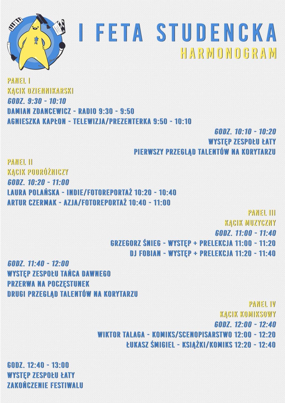 FeTa, czyli Studencki Festiwal Talentów odbędzie się 15.01.2019r. na wydziale Dziennikarstwa i Komunikacji Społecznej.
