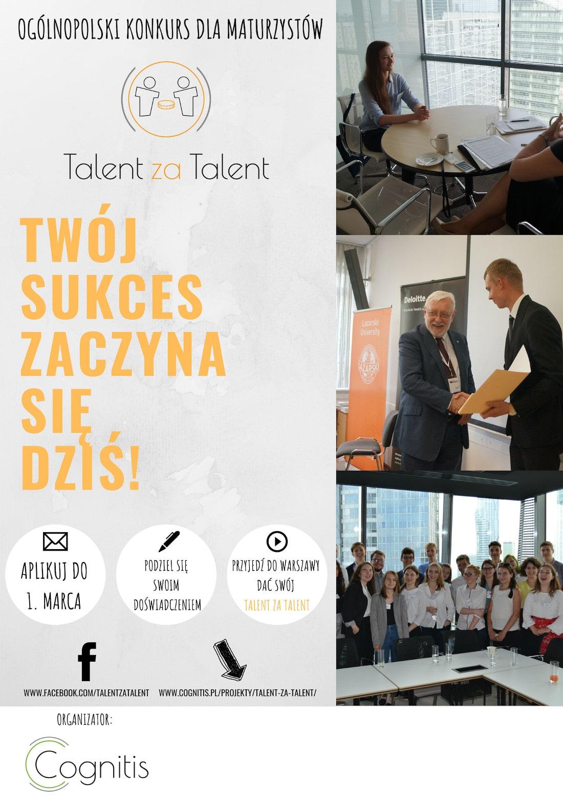 Sprawdź, z jakich etapów składa się konkurs Talent za Talent!