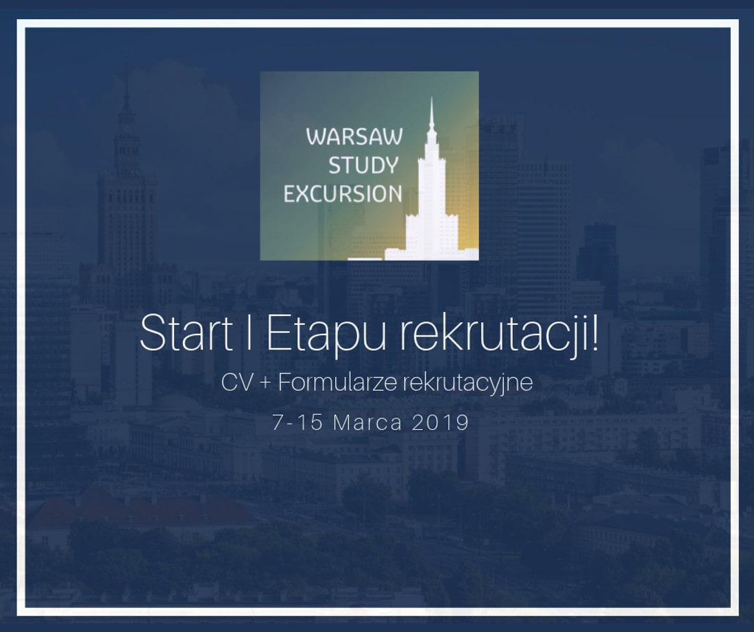VI edycja Warsaw Study Excursion odbędzie się w dniach 8-12 kwietnia 2019 roku